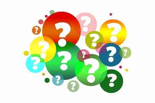 Many colorful question marks