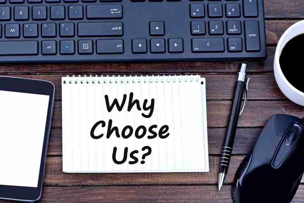 Why Choose Us business concept